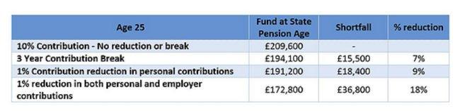 Pension Contribution Pausing Impact